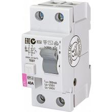 Реле дифференциальное ETI (УЗО) EFI-2 40/0,3 тип AC (10kA) (2064123)