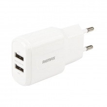 Зарядний пристрій Remax RP-U22 2хUSB Lightning Data Cable white 2.4A white (REMAX-RP-U22-EU-WHITE)