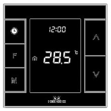 Умный термостат для управление водяным теплым полом /водонагреватель MCO Home, Z-Wave, 230V АС, 10А, черный (MH7H-WH-BLACK)