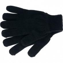 Рукавички трикотажні, акрил, чорні, подвійна манжета,  СИБРТЕХ (MIRI68671)