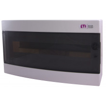 Щит пластиковый ETI ECT 18PT (наружный 1х18мод, дверь прозр, IP40) (1101002)