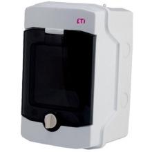 Щит пластиковый ETI ECH 4PT (наружный 1х4мод, дверь прозр, IP65) (1101060)