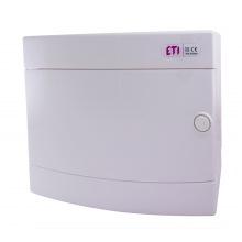 Щит пластиковый ETI ECT 12PO (наружный 1х12мод, дверь белая, IP40) (1101006)