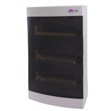 Щит пластиковый ETI ECT 36PT (наружный 3х12мод, дверь прозр, IP40) (1101004)
