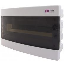Щит пластиковый ETI ECM 18PT (внутренний, 1х18мод, дверь прозр, IP40) (1101018)