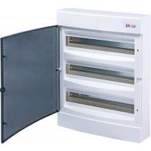 Щит пластиковый ETI ECT 54PT (наружный 3х18мод, дверь прозр, IP40) (1101040)