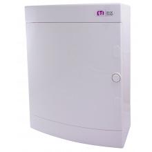 Щит пластиковый ETI ECT 24PO (наружный 2х12мод, дверь белая, IP40) (1101008)