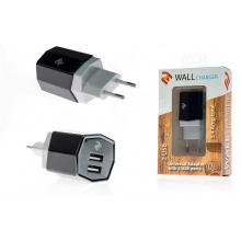 Мережевий зарядний пристрій 2E USB 3.4A, Black (2E-WCRT58-B)
