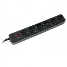 Мережевий фільтр Gembird Black 4.5 м (SPG6-G-15G) 6 розеток