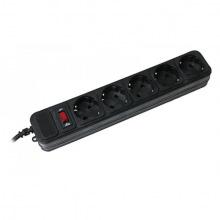 Сетевой фильтр Maxxter SPM5-G-10B черный 3 м кабель, 5 розеток