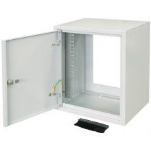 """Шкаф ZPAS 10"""" 7U, глубина 260мм. метал.дверь, серый (WZ-3661-01-01-011)"""