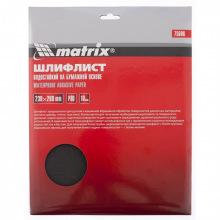 Шліфлист водостійкий на паперовій основі P 80, 230 х 280 мм, 10 шт,  MTX (MIRI756069)