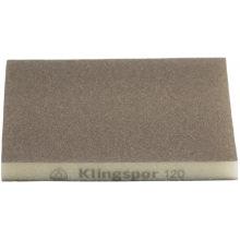 Шлифовальная эластична губка Klingspor 123X98X10 Р120 SW501, 2-стор. насыпка (271082)