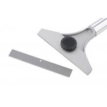 Скребок 100 мм, фіксоване лезо, подовжена металева прогумована ручка,  MTX MASTER (MIRI795509)