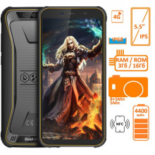 Смартфон Blackview BV5500 Pro 3/16GB Dual SIM Yellow OFFICIAL UA (6931548305811)