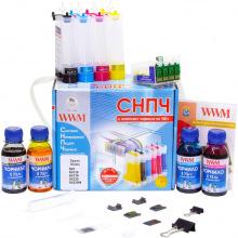 СНПЧ с Чернилами по 100гр WWM для Принтера Epson IS.0260