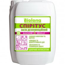 Средство дезинфицирующее BIOLONG Кожный антисептик, Спиритус 5л (SPIRITUS-CAP-5)