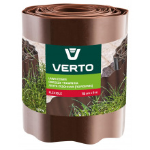 Стрічка Verto газонна 15 cm x 9 m, коричнева (15G514)