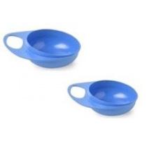 Тарелка для кормления Nuvita Easy Eating глубокая 2шт. синяя (NV8431Blue)