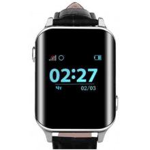 Телефон-часы с GPS трекером GOGPS М01 хром (M01CH)