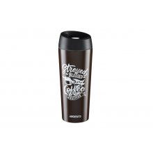 Термокружка Ardesto Coffee time Cup 450 мл, коричневый, нержавеющая сталь (AR2645DBB)