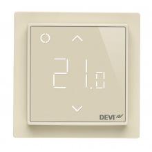 Терморегулятор DEVIreg Smart (+ 5+45С), Wi-Fi, 85х85мм, макс. 16A, Слоновая кость (140F1142)
