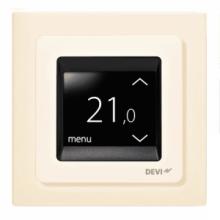 """Терморегулятор DEVIreg Touch, сенсорный, 2 """"екран, 85 х 85мм, макс. 16A, Слоновая кость (140F1078)"""