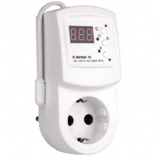 Терморегулятор Terneo RZ, для розеток, электр. управл-е, IP20, белый (terneo_rz)