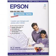 Термотрансферний Папір Epson А4 Iron-On Cool Peel Transfer Paper для світлих тканин, 10л