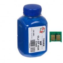 Тонер и Чип АНК 35Г Cyan (Синий) (1500124)