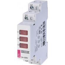 Трехфазный индикатор наличия напряжения ETI SON H-3G (3x зеленый LED) (2471556)