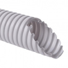 Труба DKC ПВХ гибкая гофр. д.16мм, стандартная с протяжкой, серый цвет (91916)