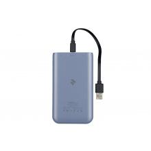 Универсальная мобильная батарея 2E 2USB, 1A&2.1A, 4 LED indicator, Blue 10000mAh (2E-PB1018A-BLUE) (2E-PB1018A-BLUE)