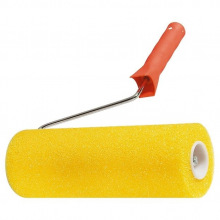 """Валик """"СТРУКТУРНИЙ"""" поролоновий з ручкою, """"гладкий"""", 230 мм, D - 80 мм, D ручки - 5,5 мм  MTX (MIRI802209)"""