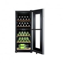 Винотека Haier 127 см/46 бутылок/А/2 темп.зоны/температура 6-18 С/Led-дисплей /5 полочек/черный (WS46GDBE)