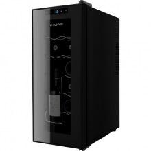 Винотека Philco PW12F 65см/12 бутылок/температур 10-18 С/Led-подсветка/сенсор/дисплей/черный (PW12F)