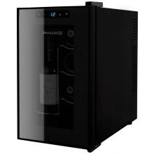 Винотека Philco PW8F 45см/8 бутылок/температур 10-18 С/Led-подсветка/сенсор/дисплей/черный (PW8F)