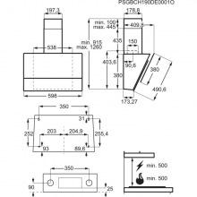 Вытяжка Electrolux LFV616Y наклонная/ 60 см/ 380 м3/ч /сенсорное управление/черная (LFV616Y)