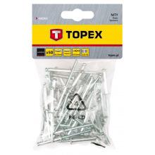 Заклепки Topex алюминиевые 3.2 мм x 10 мм, 50 шт.*1 уп. (43E302)