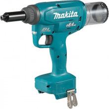 Заклепочник Makita LXT DRV250Z 18B, 20 kN - 2,4/ 3,2/4,0/4,8/6,0/6,4 мм (без АКБ и ЗП) (DRV250Z)