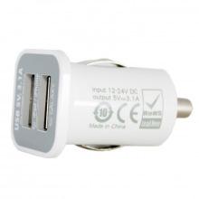 Зарядний пристрій PowerPlant автомобільне в комплекті 2xUSB, PDA, MP3, AUTO, 3.1 A (DV00DV5036)