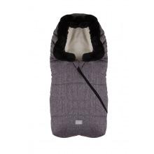 Зимний конверт Nuvita 9235 Ovetto POP меланжевый розовый/черный/мех/бежевый (NV9235OVPOPMELANGEPK)