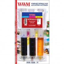 Набор для Заправки Картриджей WWM для Canon CL-511/CL-513 (3 x 20мл) C/M/Y (IR3.C11/C)
