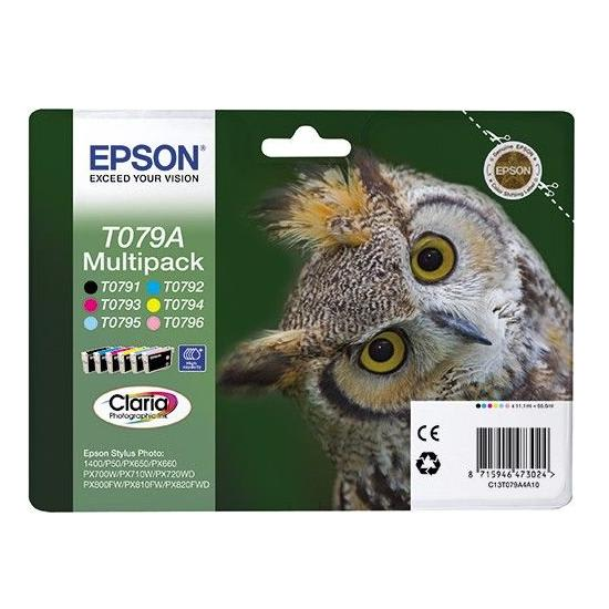 Epson C13T079A4A10S B/C/M/Y/LC/LM