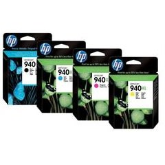 HP 940XL Black, Cyan, Magenta,Yellow