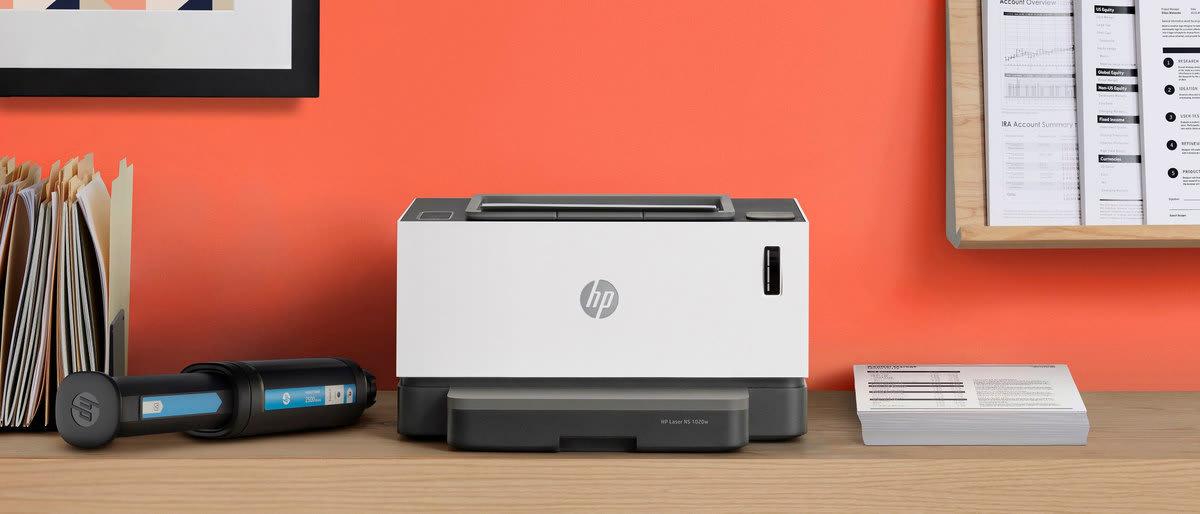 Принтер HP - черно-белый - лазерный