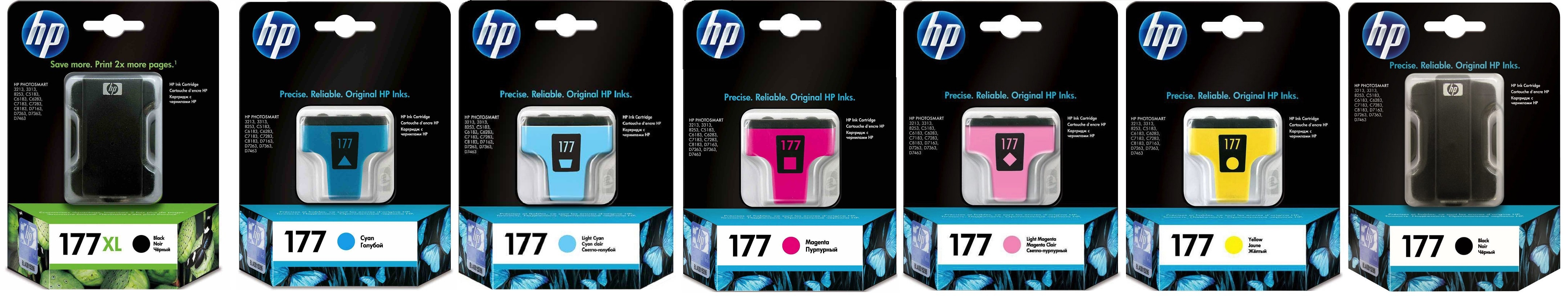 Картриджи hp 177 для HP Photosmart C6183. Купить комплект оригинальных картриджей.