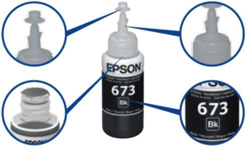 Контейнер чернил Epson 774, 664, 673 - особенности